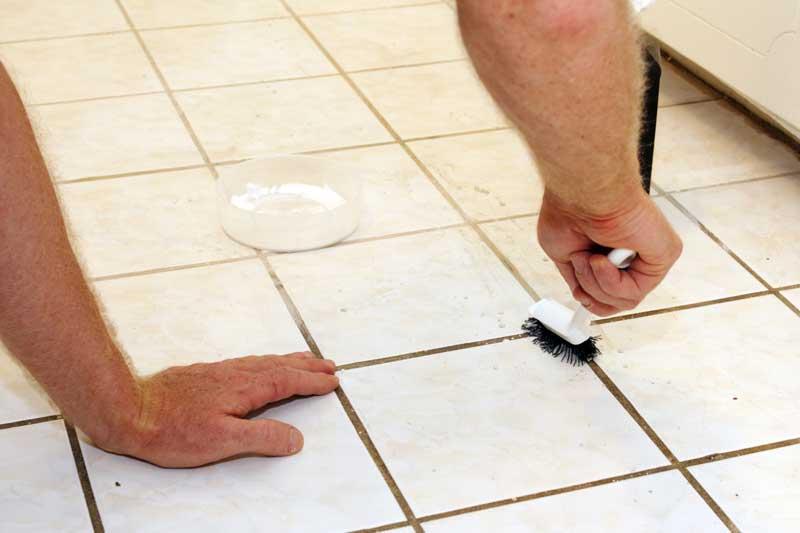 Fugen reinigen mit Backpulver