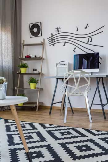 Wandtattoo Schreibtisch