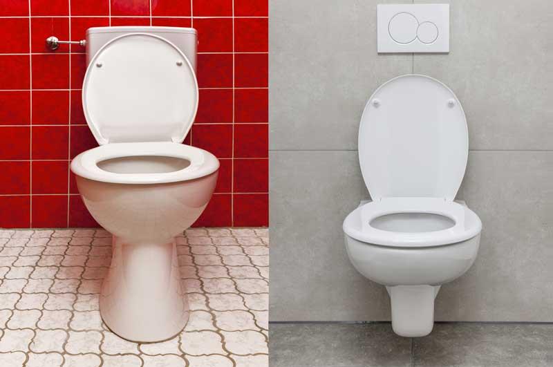 Bad modernisieren - Toilette - vorher vs. nachher